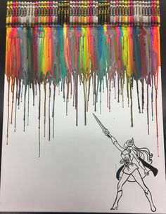 She-ra Crayon Painting Art by OnceUponACrayon on Etsy