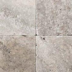 Emser-Natural Stone-Travertine - Ancient tumbled - silver (Fireplace surround/Kitchen Back-splash) 3x6 (master shower floor) 4x4