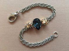 Items similar to teardrop crystal / swarovski crystals / chain bracelet / stainless steel / swarovski bracelet on Etsy Swarovski Crystals, Chain, Bracelets, Jewelry, Jewlery, Bijoux, Schmuck, Chains, Jewerly