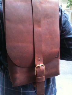 Leather backpack clay leather rucksack by LUSCIOUSLEATHERNYC