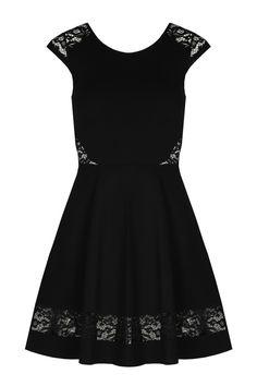 Black Lace Skater Dress TALLY WEiJL