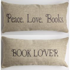 book lover tan pillow