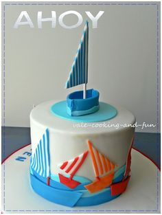 How to make a baby cake with sailing boat