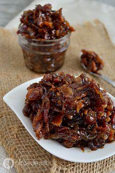 Mermelada de tocino o bacon jam (muy fácil de preparar) www.pizcadesabor.com