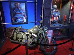 Captain America movie Steve Rogers motorcycle display