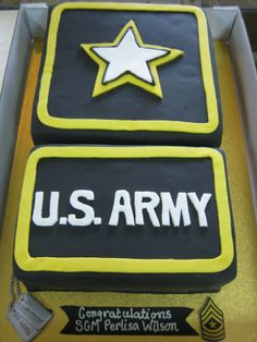 ARMY promotion cake idea  Custom U.S. Army Cake with banner