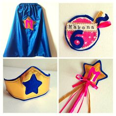 Girls Superhero Costume DELUXE Complete by RobinsBobbinsCrafts