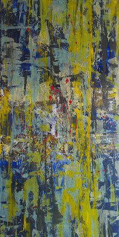 Abstract acrylic painting 24x48 by andi indeche   #ndechi #ndechiinstagram