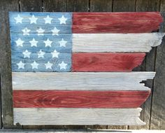 flag from scrap wood