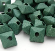 5 Greek Matte Oxyhedron Beads  12 mm Beads  by ThisPurplePoppy, $3.40