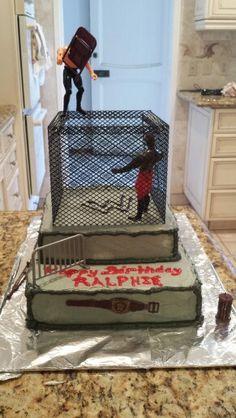 Wrestling cake Wrestling Cake, Essie, Cupcake Cakes, Wedding Stuff, Birthday, Decor, Birthdays, Decoration, Decorating