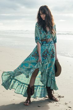 Aloha Fox Wrap Dress ABSOLUTELY BEAUTIFUL!! - LOVE THE TURQUOISE BLUE!! - SO PRETTY!!