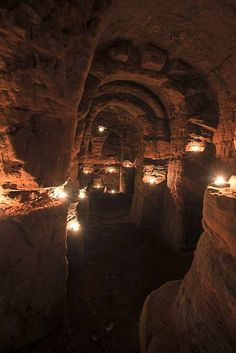 Knights Templar caves beneath a Shropshire field