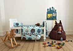 Forest blue bed set in environment 02 copy