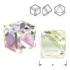 4841 Cube 4mm Vitrail Light Z  Dimensions: 4mm Colour: Vitrail Light Z 1 package = 1 piece 1 Piece, Cube, Swarovski, Bling, Jewelry, Jewlery, Jewels, Jewerly, Jewelery