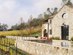 Stone house in Napa Valley. French inspired.