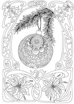 Coloring page - Christmas ornament #christmas #coloring #printable #freepattern