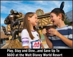 Play, Stay, Dine and Save up to $600 at Walt Disney World Resorts!  #disney