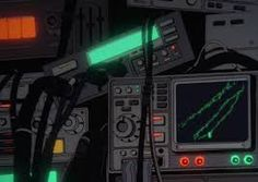 Check out all the awesome cyberpunk gifs on WiffleGif. Including all the vaporwave gifs, trippy gifs, and seapunk gifs. Page 3 Cyberpunk Kunst, Cyberpunk Anime, Aesthetic Gif, Aesthetic Videos, Gifs, Gui Interface, Space Opera, 8bit Art, Old Anime