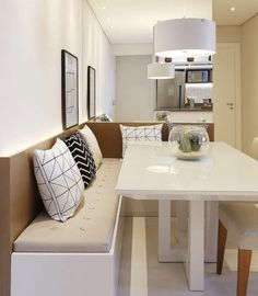 24 Tips for Decorating Your Apartment That Always Look Fantastic - Home Decor & Interior Design Kitchen Benches, Kitchen Dinning, Kitchen Decor, Kitchen Design, Condo Living, Home And Living, Decor Interior Design, Interior Decorating, Sweet Home