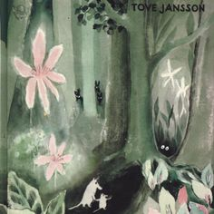 Tove Jansson's first ever Moomin book 'The Moomins and the Great Flood'. Tove Jansson began writing the book in War had broken out, and the 25 year old Finnish writer was thinking about a different world, one not shot through with fear and hatred. Tove Jansson, Art And Illustration, Floral Illustrations, Moomin Books, Miranda July, Art Design, Childrens Books, Creations, Artsy