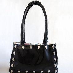 Damen Lackleder Pailletten bestickt Schulter Crossbody Tasche Handtasche