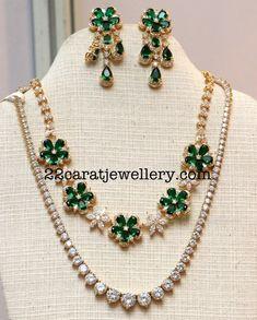 Detachable two Rows Diamond Set - Jewellery Designs