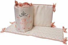Fairytale Princess Four-Piece Reversible Crib Bumper Set Bedroom Decor #bumber