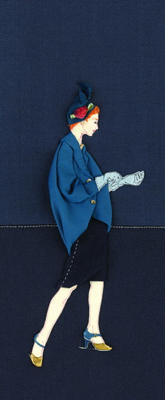 CRISTOBAL BALENCIAGA Illustration created by Paula Sanz Caballero as featured in our Selvedge Millinery Issue, 69.