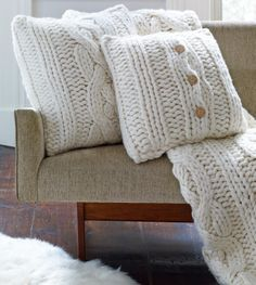 So the pillow cover is $125!!!  Seriously, I could make a wool-alpaca blend for probably $20, maybe $30 depending on the amount of yarn needed - this is crazy!  UGG® Oversized Knit Collection | UGGAustralia.com