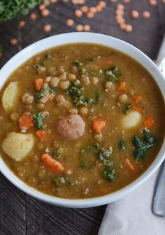 Pressure Cooker Lentil Potato Soup