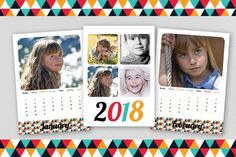 ◆Custom 2018 retro printable photo calendar, Original digital wall calendar, Personal baby photo Christmas gift, Family wall calendar◆  A beautiful Personalized Calendar available in 2 sizes, A4 and Letter. This calendar is custom made with your pictures in it! A digital printable calendar that can easily be printed at home or at any (online) copy shop. ◆WHAT DO YOU GET? - A custom made printable calendar in A4 or Letter size in PDF format with your own pictures in it! (1 front page, 12…