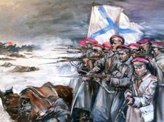 White Army in battle, Russian Civil War