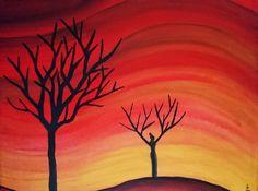 L'aube Acrylique sur toile  36 x 28 cm Fevrier 2008