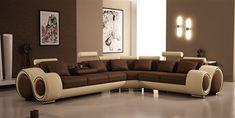 Graceful Modern Brown Living Room Paint Colors With Luxurous Ultra Elegant Brown Sofa Design Idea Image Living Room Color Schemes, Paint Colors For Living Room, Living Room Sets, Living Room Designs, Living Area, Bedroom Designs, Sofa Design, Canapé Design, Design Ideas
