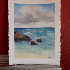 Longing to the beach. Watercolor seascape. 24 cm x 31 cm. 35€ plus shipping costs. Contact me for more information. @atelier_marielle Instagram atelier_marielle mariellebosart@gmail.com