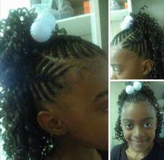 Kiddie Style: Fishbone Braids & Leave-out