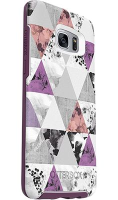 OtterBox Symmetry Series Case for Samsung Galaxy Edge, آ Perfected Angles (White/Damson Purple/Graphic) - Frustration-Free Packaging Samsung S7 Edge Cases, Phone Cases Samsung Galaxy, Iphone 6 Cases, Phone Covers, Phone Accesories, Cute Cases, Galaxy S7, Cover Design, Gadgets