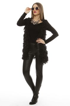 Sleeveless Fur Style Jacket - ΡΟΥΧΑ -> Jackets & kimono | Made of Grace
