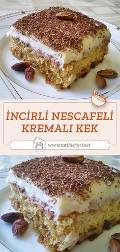 Turkish Recipes, Ethnic Recipes, Delicious Desserts, Dessert Recipes, German Desserts, Tiramisu, Cheesecake, Good Food, Food And Drink