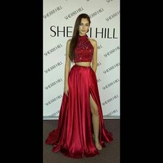 #mulpix We love our new Sherri Hill backdrop AND our dresses! This dress is absolutely stunning! Style #11330 #regiss #regissprom #regissfortheone #2pc #beaded #sherrihill #ss16 #homecoming #formal #pageant #ss16 #dotd #ootd