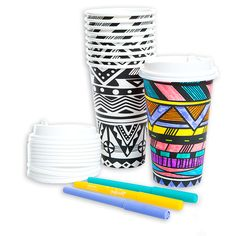 adult coloring 10pk coffee cups