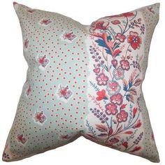 The Pillow Collection Elske Floral Bedding Sham Color: Sea Green, Size: Standard