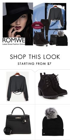 """#romwe"" by softic013 ❤ liked on Polyvore featuring Red Herring, Hermès, UGG and Lime Crime"