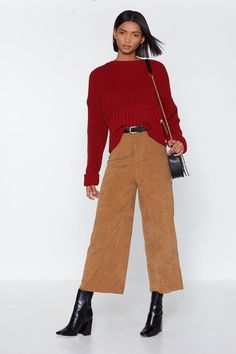 Nasty Gal Wide of the Mark Corduroy Culottes Coulottes, Gal Got, Winter Chic, Corduroy Pants, Nasty Gal, Nice Dresses, Pants For Women, My Style, Plus Fashion