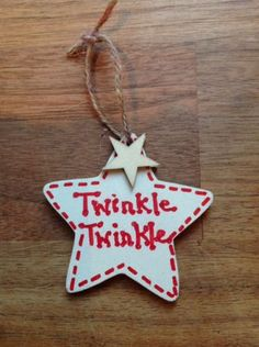 Personalised Shabby Chic Christmas Tree Decorations – All Out Of Ideas