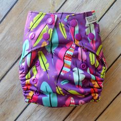 Fabulous Feathers Diaper - All-in-two Cloth Diaper - Cloth Diaper - Reusable Diaper - Washable Diaper - AI2 Cloth Diaper - Boys - Unisex
