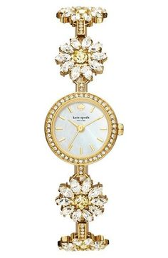 kate spade new york 'daisy chain' bracelet watch, 20mm available at #Nordstrom