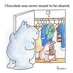A thought on Chocolate w Almonds Day. (I didn't make this day up. Though I would've if necessary.)