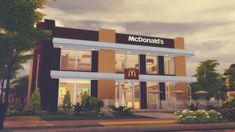 McDonald's Restaurant - The Sims 4 Catalog The Sims 4 Lots, Mcdonald's Restaurant, Best Sims, Sims 4 Cc Furniture, Colonial Style Homes, Sims 4 Houses, Sims 4 Game, Sims 4 Clothing, Sims 4 Update